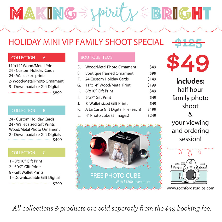 Rochford Studios Holiday Mini Price Menu For Email